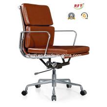 Alumínio Hotel de luxo / Escritório Eames cadeira de computador de couro (RFT-B01)