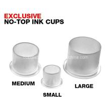 Copos de tinta de tatuagem de plástico com Base