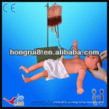 Modelo de venipuntura de corpo completo infantil avançado ISO, manequim de treinamento de enfermagem