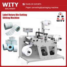 Máquina de corte de etiquetas em branco e rotativa