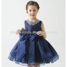 2016 la nueva cucharada del vestido de bola del vestido de la niña de la llegada Appliqued los vestidos de las muchachas de flor del desfile del desfile para los niños