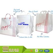 Bolso de plástico rígido de la manija rígida del sello de alta calidad del diseño resistente de encargo de encargo de alta calidad