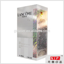 Shiny 350gsm cosmetic packaging cardboard box with hologram color