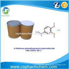 Chlorhydrate de 4-méthoxy phénylhydrazine, CAS 19501-58-7, intermédiaire de synthèse pharmaceutique