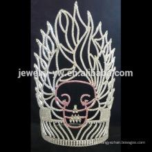 Tiara da princesa do rhinestone da coroa do logotipo do grosso por atacado para mulheres