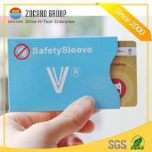 Anti Tear Paper Support de carte à manchon de blocage RFID