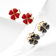 925 Silver Four leafs fashion earrings for Kids party gift