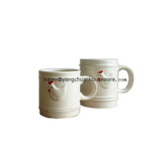 Tasse à coq en céramique