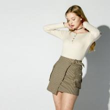 Короткая юбка с завышенной талией для женщин