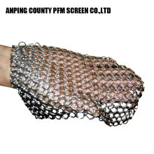 Round Cleaner Ss316 8x6 Inch Stainless Steel Chainmail Scrubber For Pans