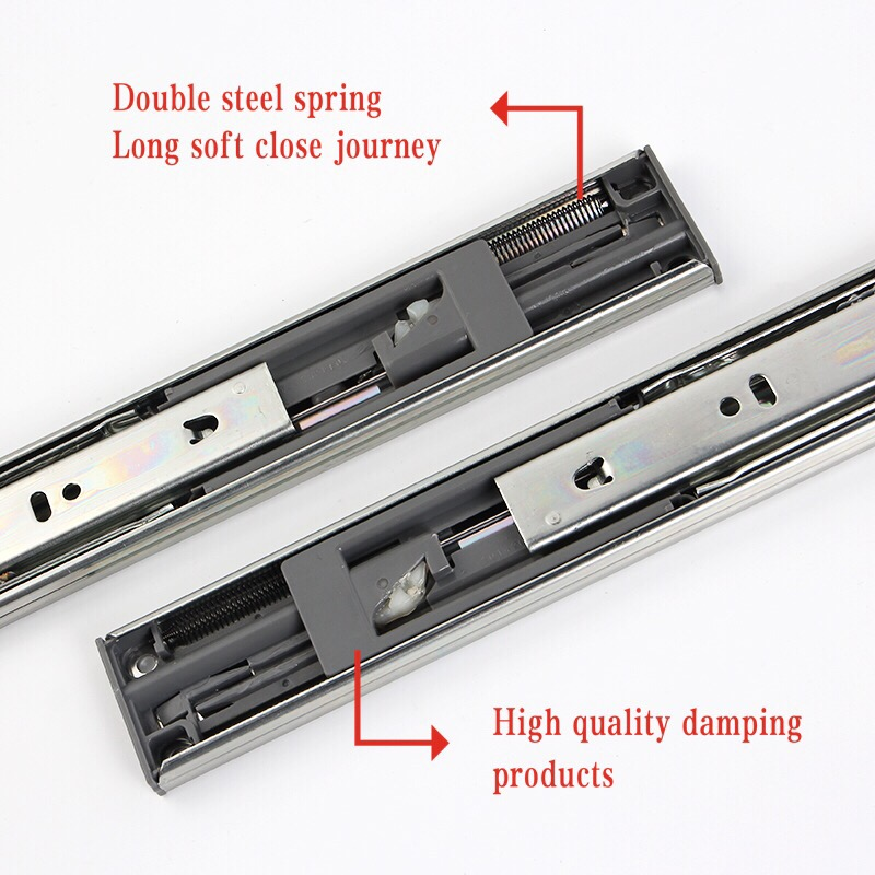 Iron Drawer Hydraulic Slide Rail
