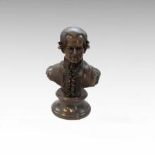 Busts Brass Statue Musician Mozart Decor Bronze Sculpture Tpy-805