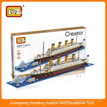 Loz toy shantou toy factory toy connecting building blocks DIY toy Titanic