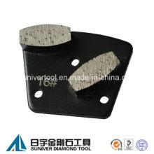 Шлифование бетонных сегментов металла шлифовальной колодки