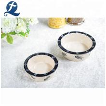 Dog Slow Food Feeder Custom Decal Ceramic Pet Bowl