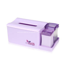 Organizador de escritorio de caja de pañuelos de plástico al por mayor