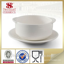 Wholesale hand ceramic china tableware, soup cup with handle