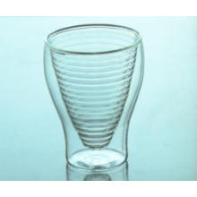 High Borosilicate Thermal Glass Double Wall Cappuccino Glass Cup, Wholesale Borosilicate Double Wall Glass Tea Cup