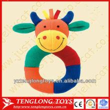 El bebé lindo y suave de la felpa juega los juguetes formados vaca de las ventas al por mayor
