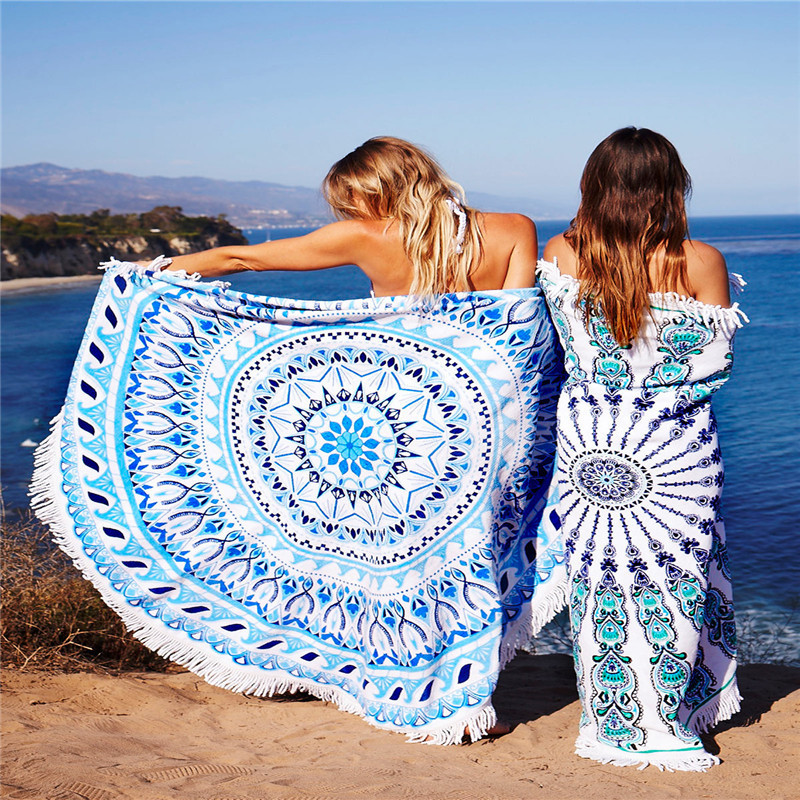 Floral Tassel Beach Towel