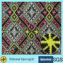 Tecido de raiom estampado africano para roupas de meninas