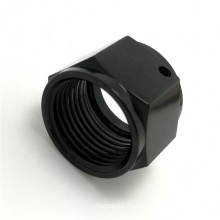 Factory manufacture Customizedcnc machining luminaire part black anodized cnc machining turning aluminum part