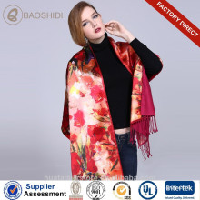 Digital printing and Brushed Double layer silk scarves and shawls