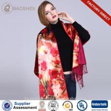 Impresión digital y cepillado Bufandas y mantones de seda de doble capa