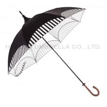 Ladies Black Pagoda Umbrella