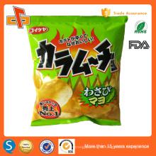 FDA approved plastic potato chips bag with custom logo design printing