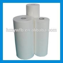 Traverser le tissu non-tissé de Spunlace de pulpe de bois de viscose de polyester de recouvrement / parallèle