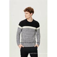 Cable Knit Wool Blend Men Knitwear
