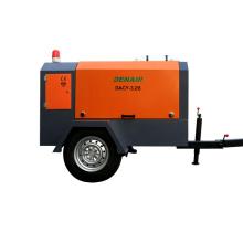 3m3/min 7bar Diesel Mobile Screw Air Compressor for  Drilling