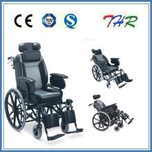 Инвалидная коляска с высокой спинкой, откидывающаяся вручную (THR-204BJQ)