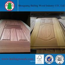 Piel de la puerta de la madera HDF de la fábrica de China