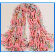 Fashion printed chiffon georgette scarf guangzhou