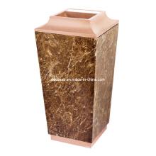 Lixeira cônica de linha de areia de ouro rosa (DK55)
