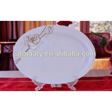 новый дизайн керамической посуды и плиты рыб