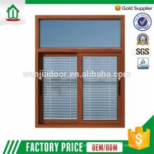 section de fenêtre coulissante en aluminium wanjia de haute qualité