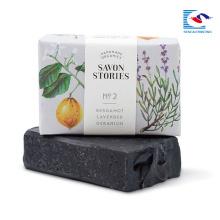 cor brilhante impresso embalagem macia para sabonete e presente perfumado