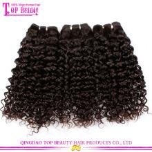 Qingdao Fabrik Versorgung Klasse 7a verworrenes lockiges 100% reines europäisches Haar
