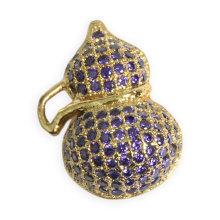 Bijoux pendentifs en forme de calabash à la mode avec zircon cubique violet