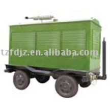 Trailer-mounted power station