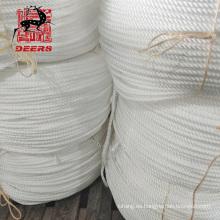 Cuerda de pesca de cuerda de ancla de poliamida de cuerda de nylon de amarre marino de alta calidad de tres hilos