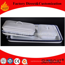 Enamel Tray/Rectangular Tray Pan/Sunboat Customized Kitchenware