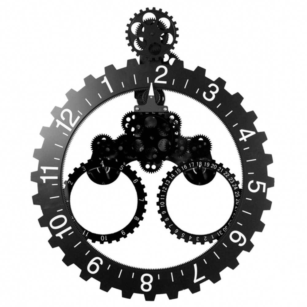 Gear Wall Clock With Date