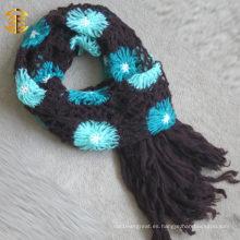 2015 Nueva bufanda y mantón del Knit de la flor del otoño de la manera para los adultos
