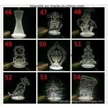 Optical Illusion 3D LED Light Decoration Night Lamp