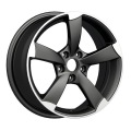 5-Speichen Audi Replica Wheel Matt Black Polished