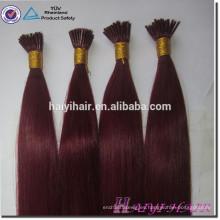 Pre Bonded Stick 100 Remy cabello humano 613 I Tip pelo brasileño extensión Tip pelo